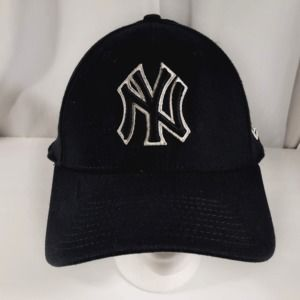 New Era New York Yankees, Black with white, fitted